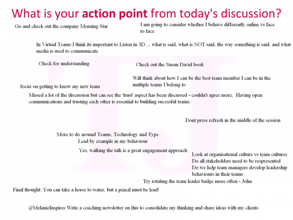 Click to see more of the #TJwow discussion webinar action points