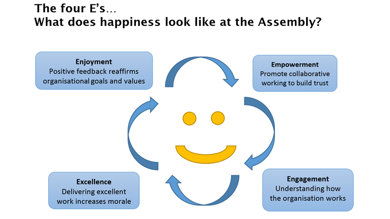 Happiness at the Welsh Assembly by Rhodri Wyn Jones
